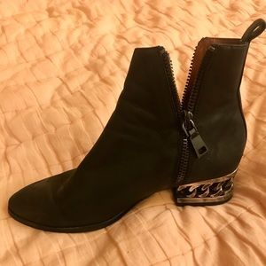 Jeffery Campbell black Boone leather boots